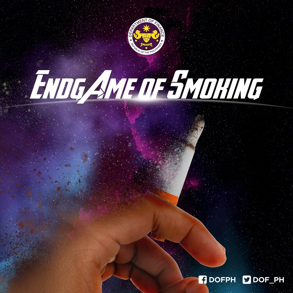 ENDGAME of combatting the harmful effects of smoking by passing the bill increasing the excise tax of cigarettes.