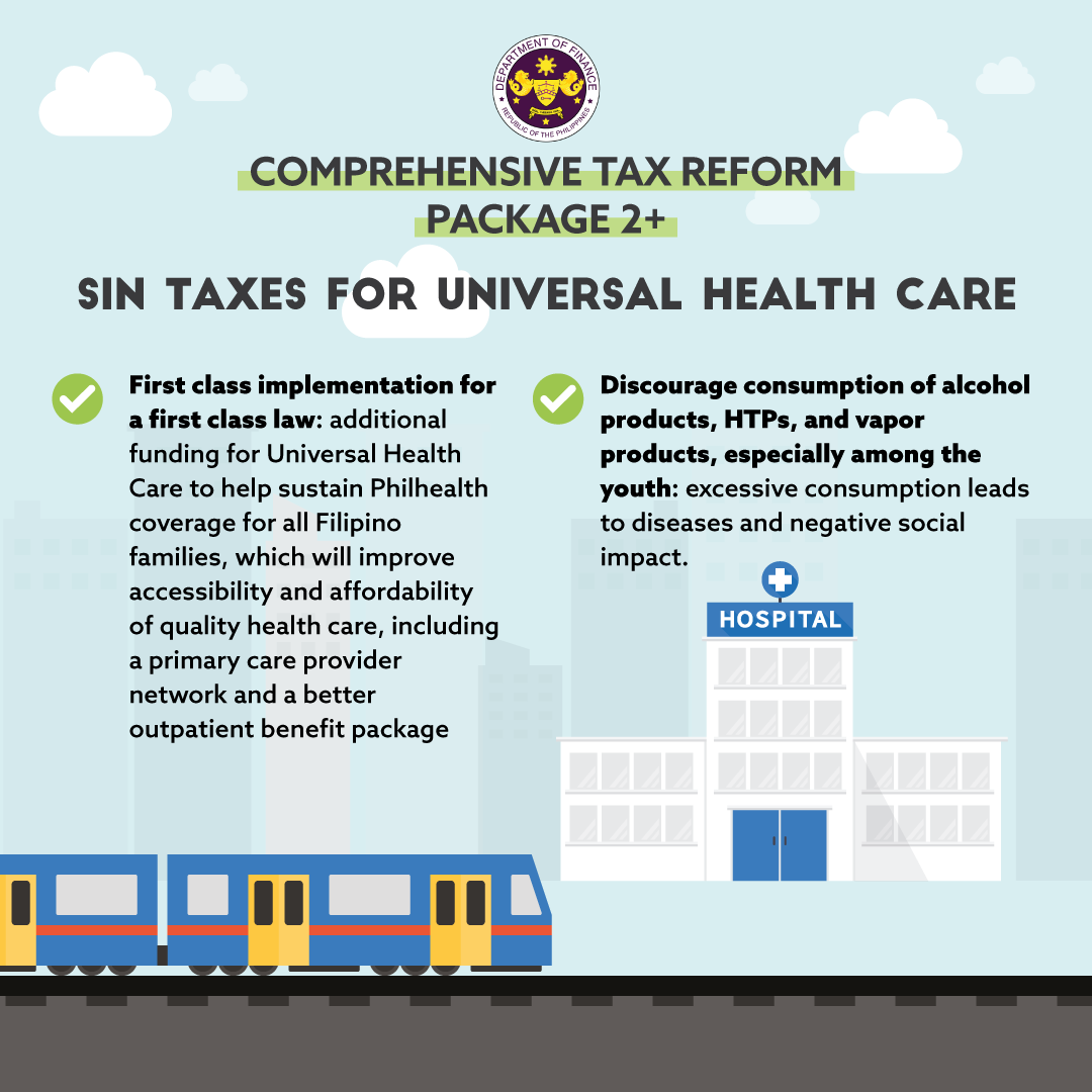 Benefits of Package 2 plus (Sin Taxes) of the Comprehensive Tax Reform Program