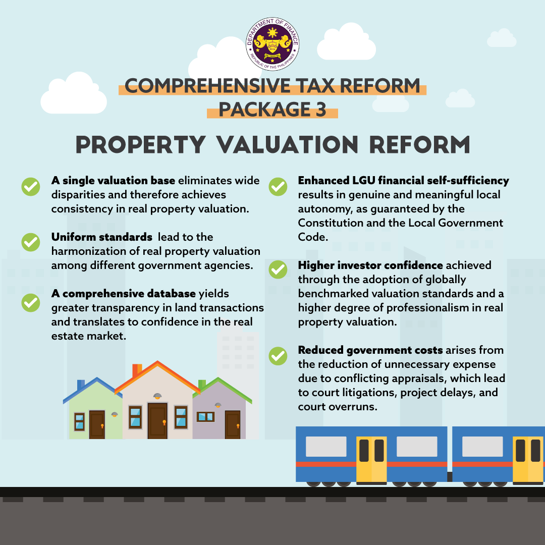 Benefits of Package 3 (Property Valuation Reform) of the Comprehensive Tax Reform Program